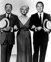 Harold Arlen performing with Peggy Lee and Vic Damone in 1961